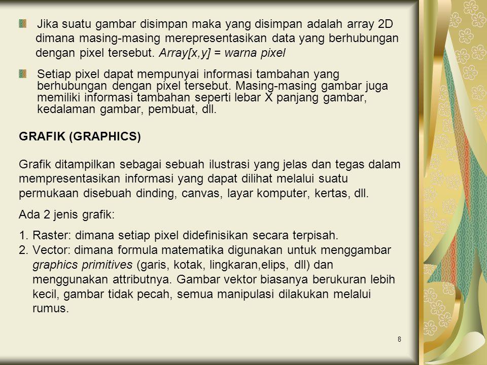 9 Grafik tidak hanya terdiri dari gambar-gambar statis.