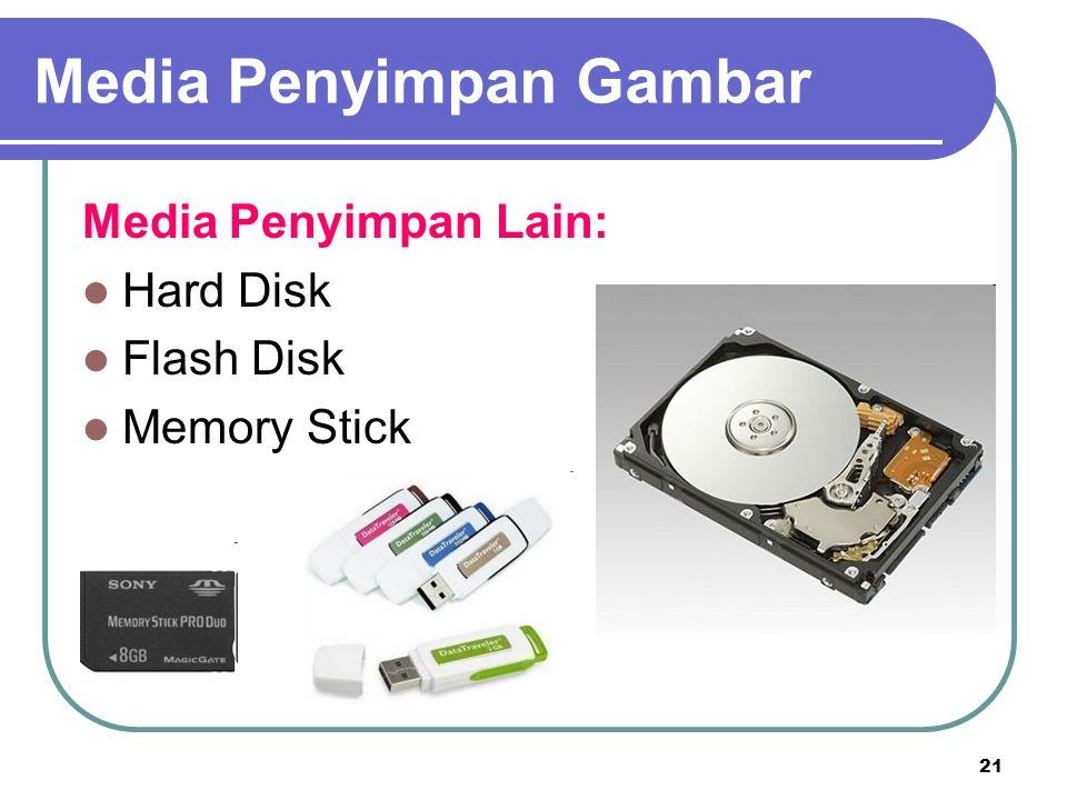 21 Media Penyimpan Lain: Hard Disk Flash Disk Memory Stick Media Penyimpan Gambar