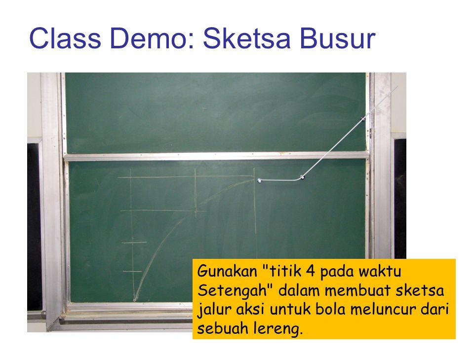 Class Demo: Sketsa Busur Gunakan