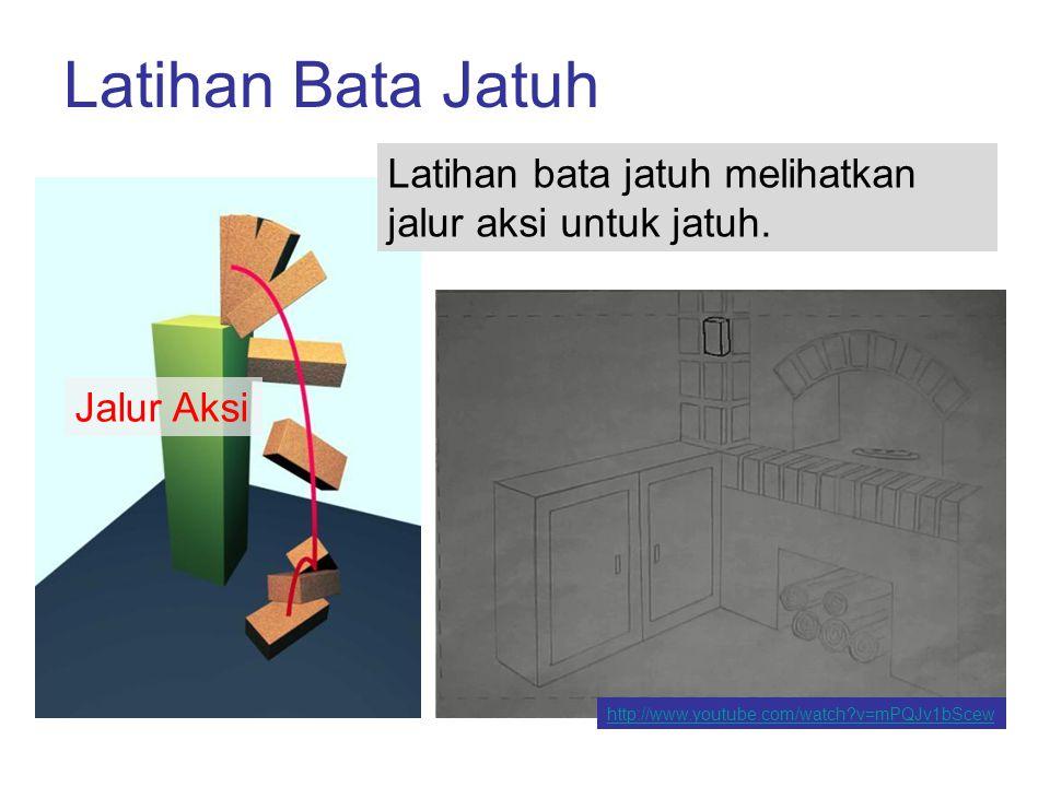 Jalur Aksi vs.Garis Aksi Jalur aksi menunjukkan lintasan untuk urutan gambar dalam sebuah animasi.