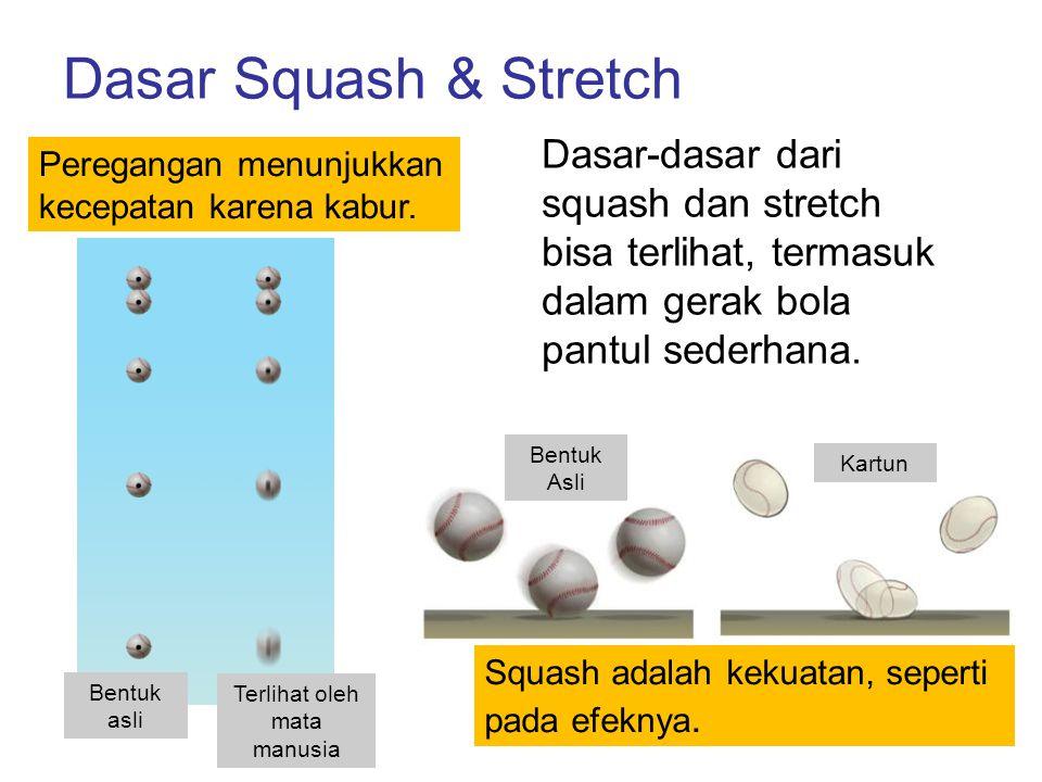 Dasar Squash & Stretch Peregangan menunjukkan kecepatan karena kabur. Bentuk asli Terlihat oleh mata manusia Squash adalah kekuatan, seperti pada efek