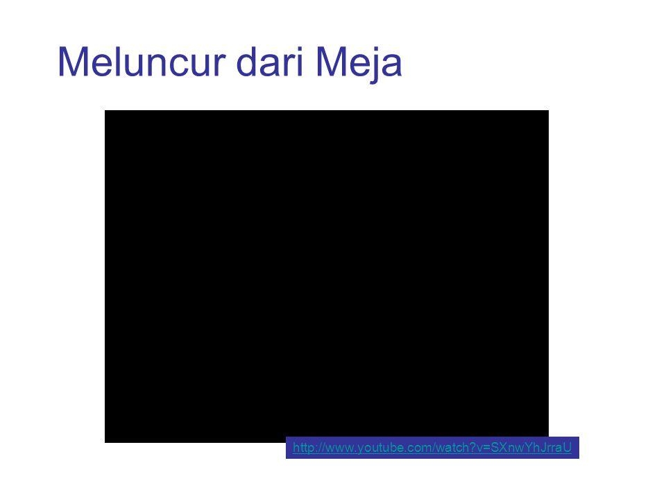 Meluncur dari Meja, Pelacakan Video pelacakan, frame demi frame, menunjukkan bahwa gerakan horizontal tetap seragam sebagai gerak vertikal slow out.