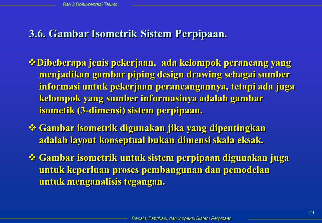Bab 3 Dokumentasi Teknis Desain, Fabrikasi, dan inspeksi Sistem Perpipaan 24 3.6.