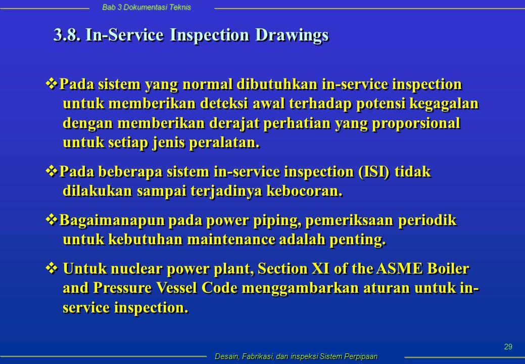 Bab 3 Dokumentasi Teknis Desain, Fabrikasi, dan inspeksi Sistem Perpipaan 29 3.8.