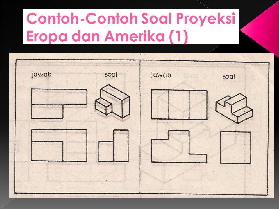 Contoh-Contoh Soal Proyeksi Eropa dan Amerika (1)