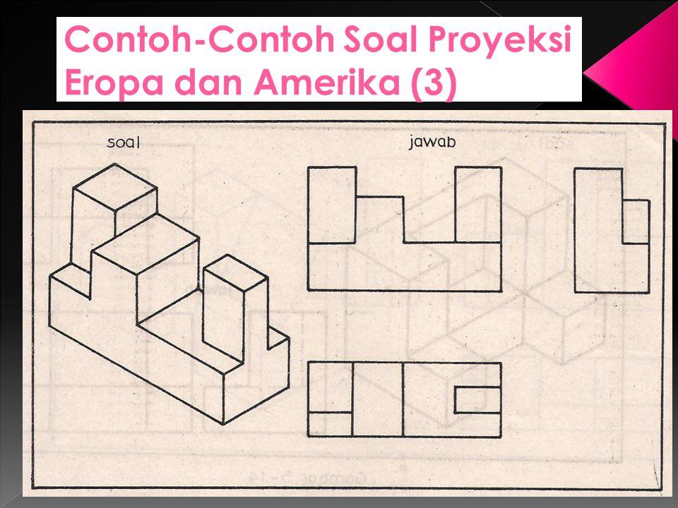 Contoh-Contoh Soal Proyeksi Eropa dan Amerika (3)