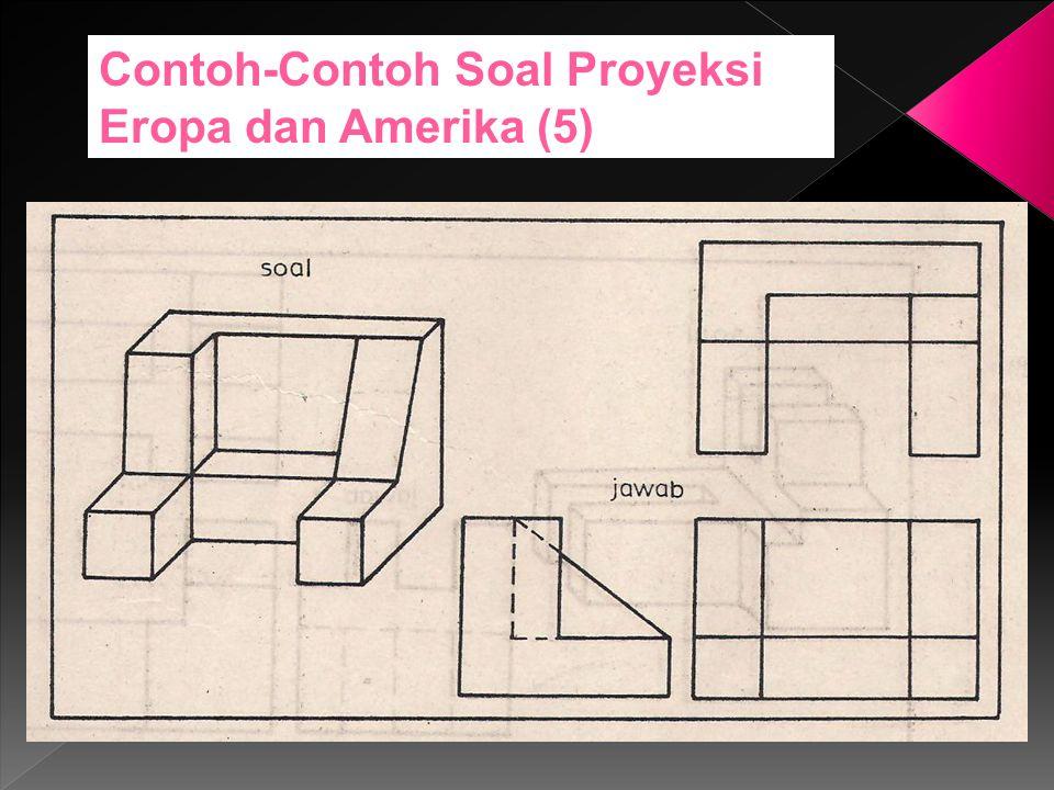 Contoh-Contoh Soal Proyeksi Eropa dan Amerika (5)