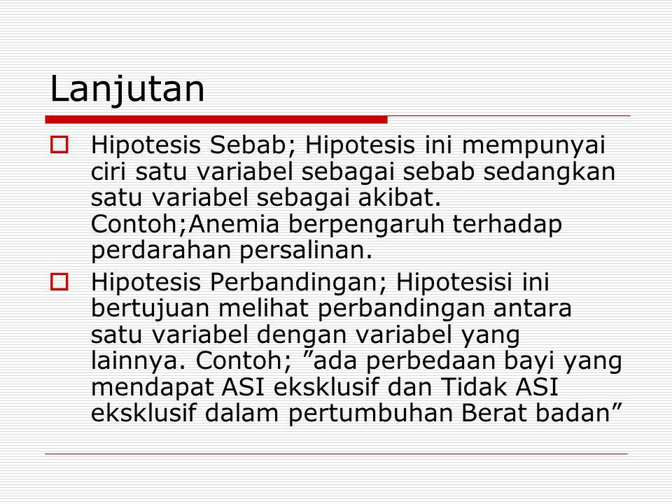 Jawab  Ho =