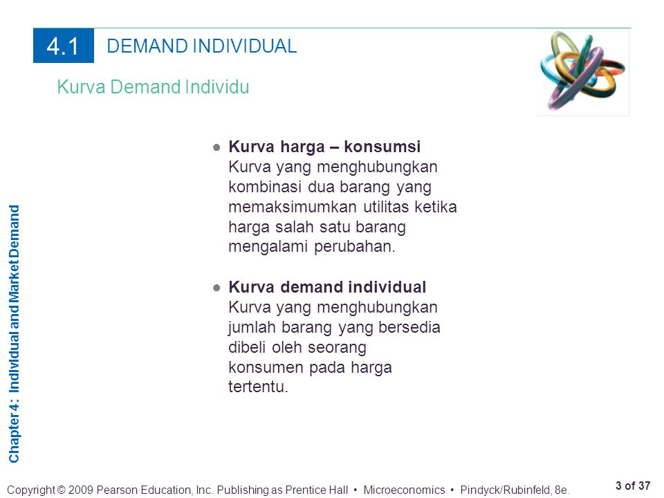 Chapter 4: Individual and Market Demand 14 of 37 Copyright © 2009 Pearson Education, Inc.