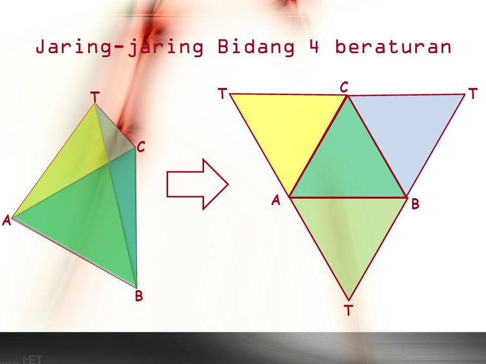 Jaring-jaring Bidang 4 beraturan T A C B T A C B T T