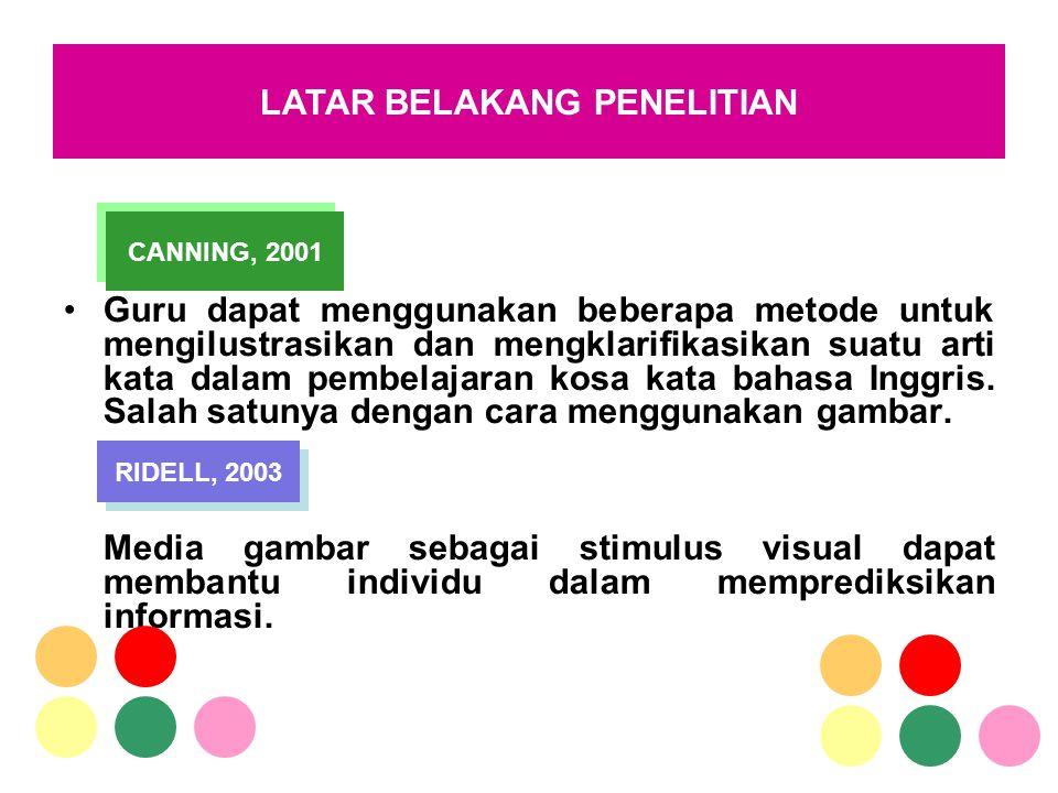 Guru dapat menggunakan beberapa metode untuk mengilustrasikan dan mengklarifikasikan suatu arti kata dalam pembelajaran kosa kata bahasa Inggris. Sala