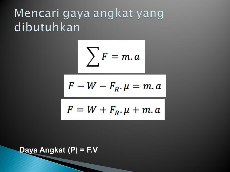 Daya Angkat (P) = F.V