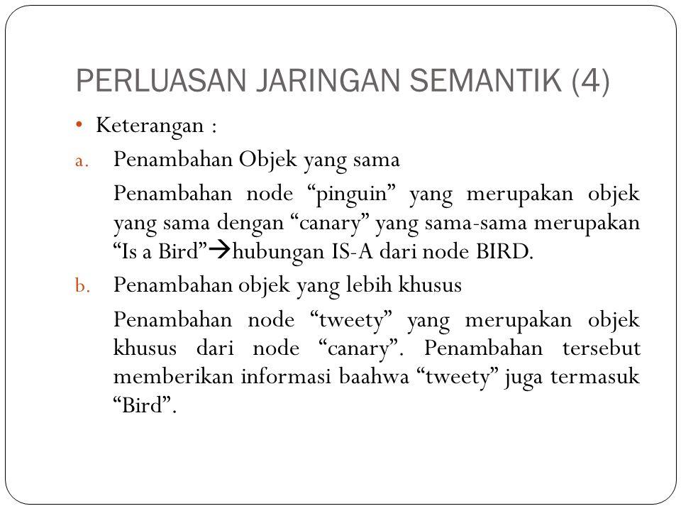 PERLUASAN JARINGAN SEMANTIK (5) c.