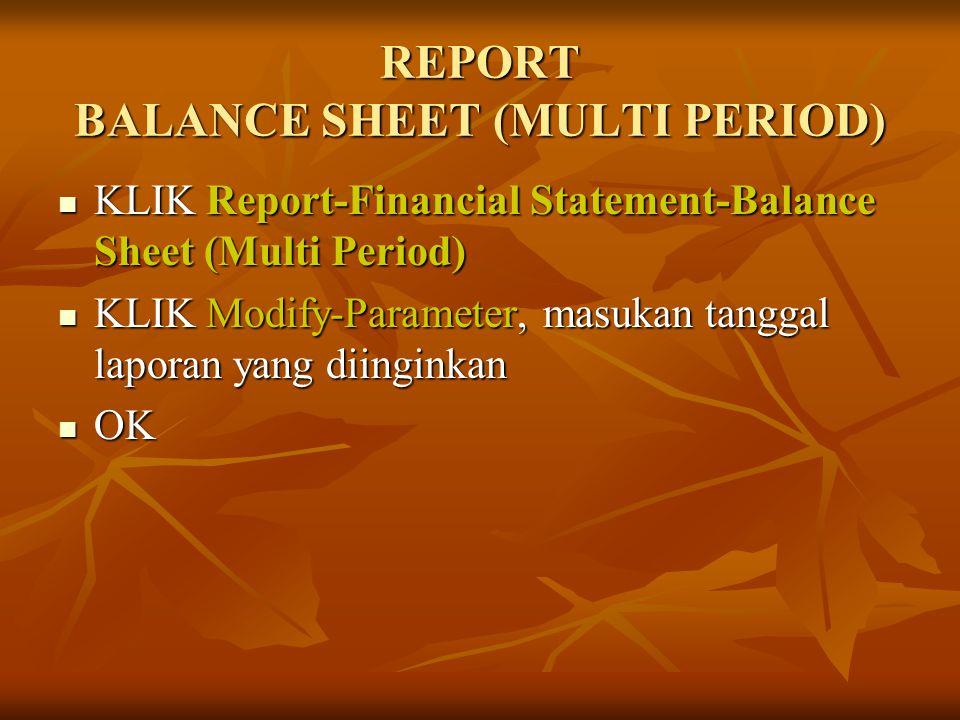 REPORT BALANCE SHEET (MULTI PERIOD) KLIK Report-Financial Statement-Balance Sheet (Multi Period) KLIK Report-Financial Statement-Balance Sheet (Multi
