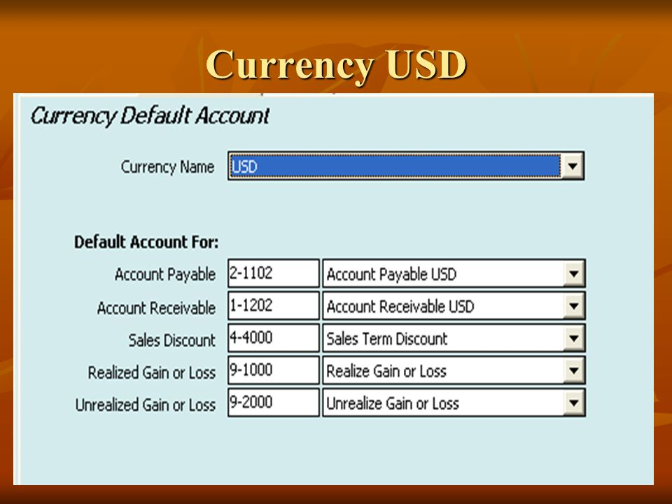 Currency USD