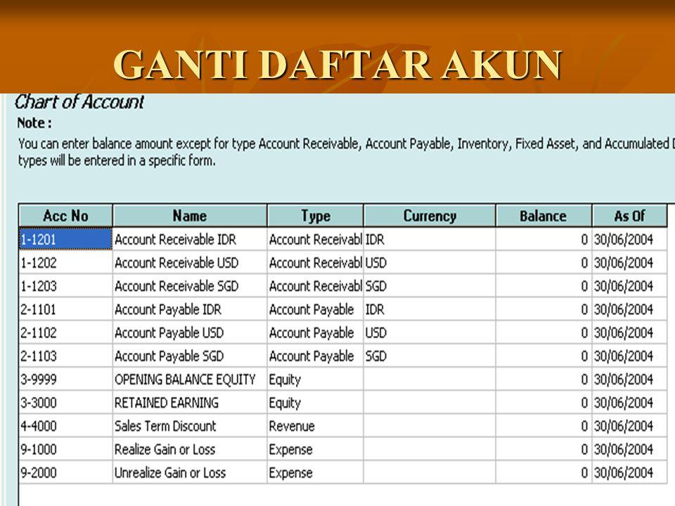 Transaksi 29 Juli 2004 BUKA MENU Activities – Cash/Bank – Other Payment BUKA MENU Activities – Cash/Bank – Other Payment Isi data seperti gambar Isi data seperti gambar