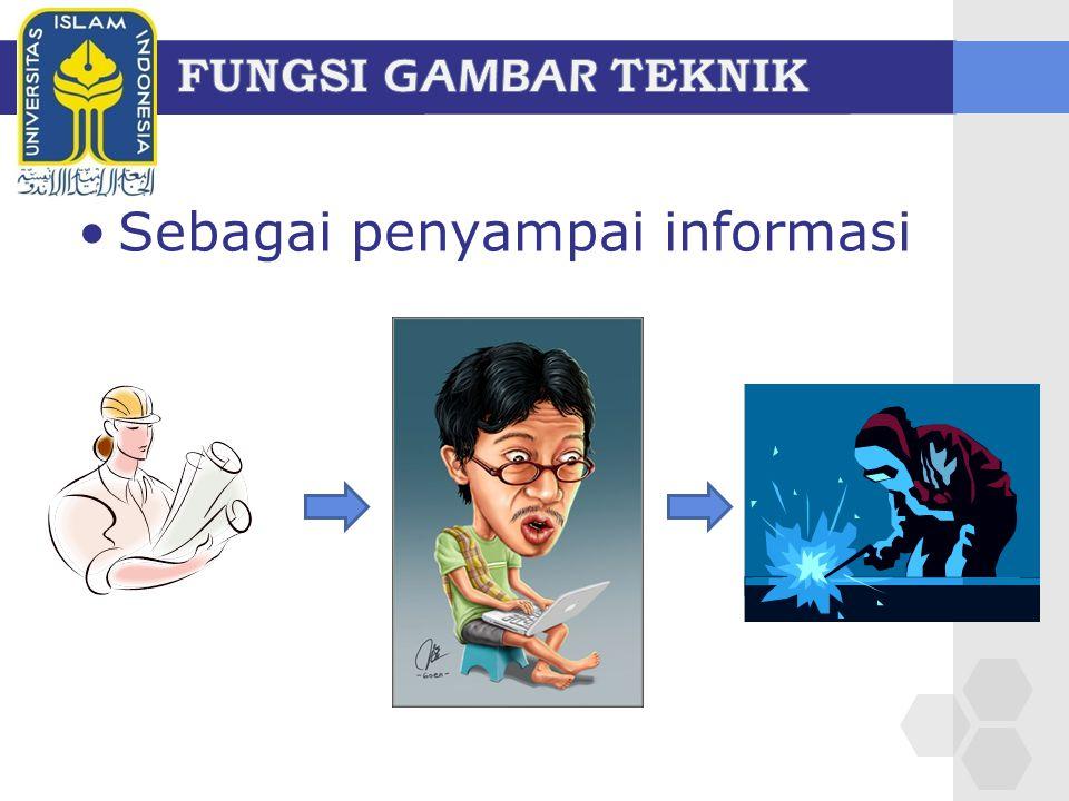 Sebagai penyampai informasi