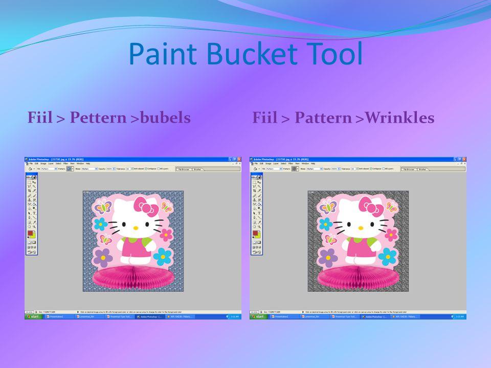 Paint Bucket Tool Fill > Pattern > Woven Fill > Pattern > Wood