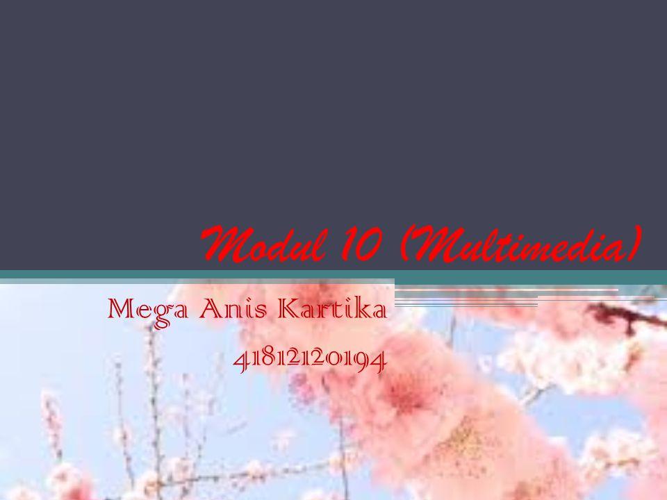 Modul 10 (Multimedia) Mega Anis Kartika 41812120194