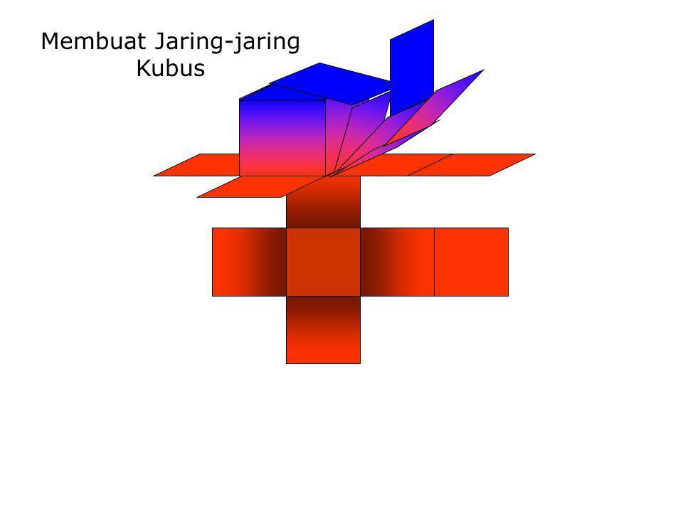 Membuat Jaring-jaring Kubus