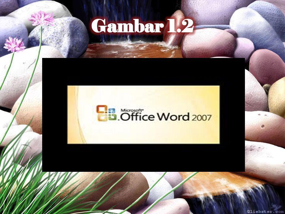 Mengenal Elemen Jendela Microsoft Word Setelah Word 2007 kita aktifkan, maka akan tampil layar kosong dengan nama Document 1, seperti Gambar 1.3.