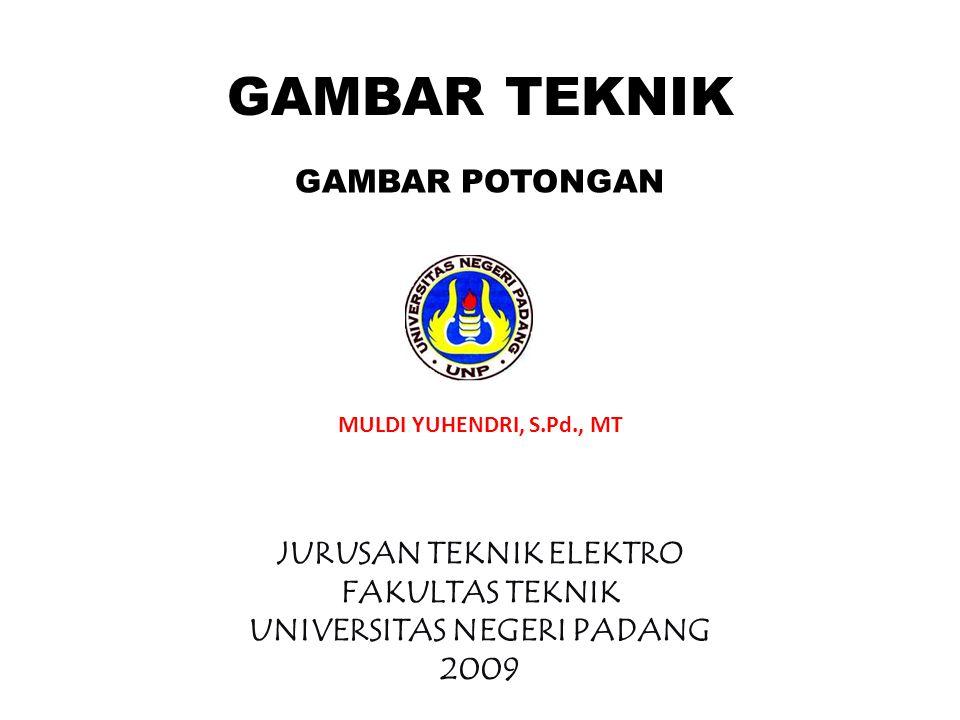 GAMBAR POTONGAN GAMBAR TEKNIK MULDI YUHENDRI, S.Pd., MT JURUSAN TEKNIK ELEKTRO FAKULTAS TEKNIK UNIVERSITAS NEGERI PADANG 2009