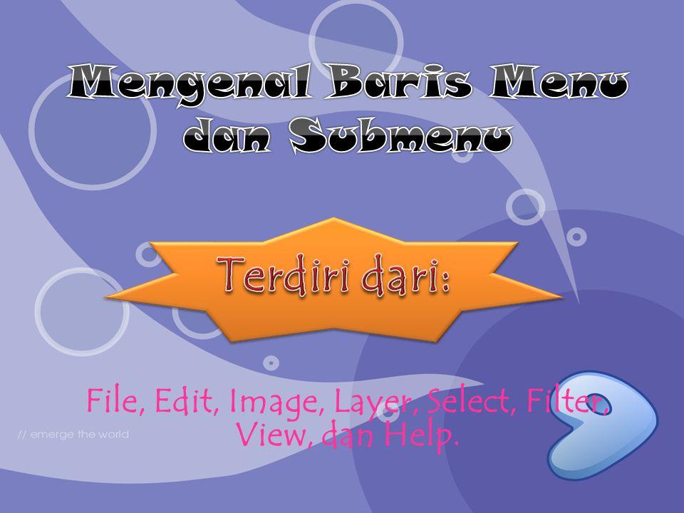File, Edit, Image, Layer, Select, Filter, View, dan Help.
