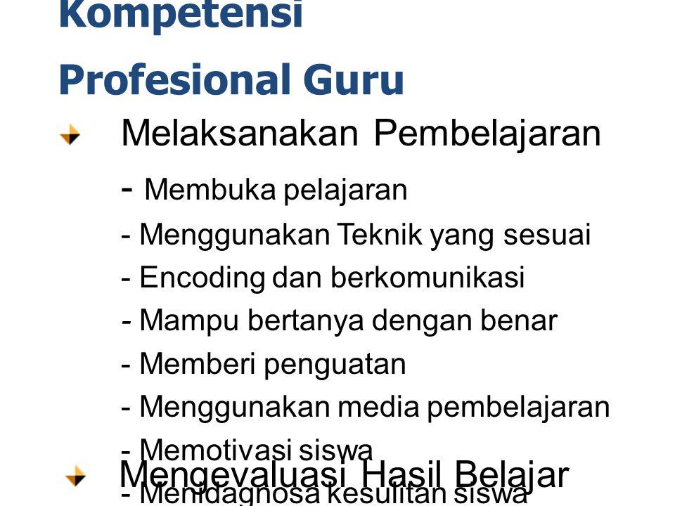 Kompetensi Profesional Guru Merancang Pembelajaran - Merumuskan Kompetensi Dasar - Rincian Bahan Belajar - Kegiatan Belajar dan Pembelajaran (Metode pembelajaran, Kegiatan siswa) - Media yang digunakan - Evaluasi - Sumber