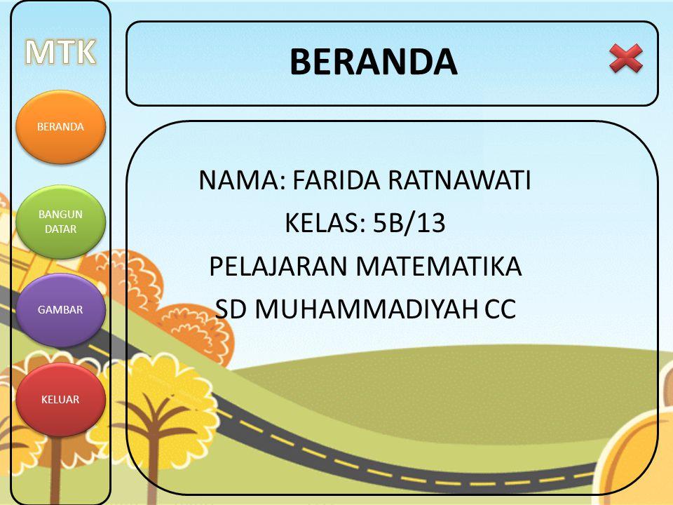 BERANDA BANGUN DATAR BANGUN DATAR GAMBAR KELUAR OPTION Anda yakin akan keluar dari PPT_Farida??.