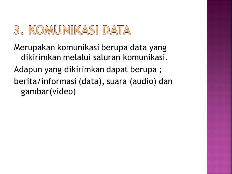 Komponen sistem komunikasi yang utama adalah sebagai berikut : Pengirim (Transceiver) Penerima (Receiver) Media Transmisi