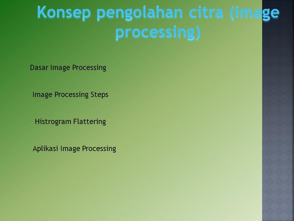 Dasar Image Processing Image Processing Steps Histrogram Flattering Aplikasi Image Processing