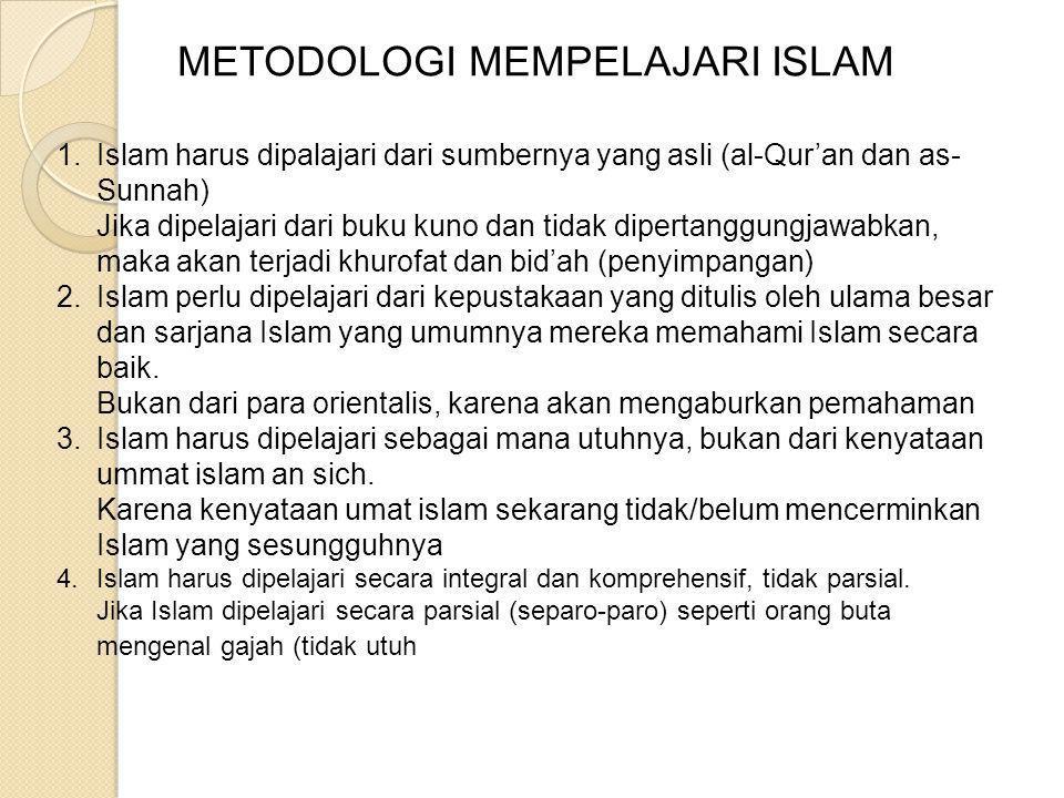 METODOLOGI MEMAHAMI ISLAM OLEH H. TIJANI MOHAMMAD K., Lc, M.Pd.I