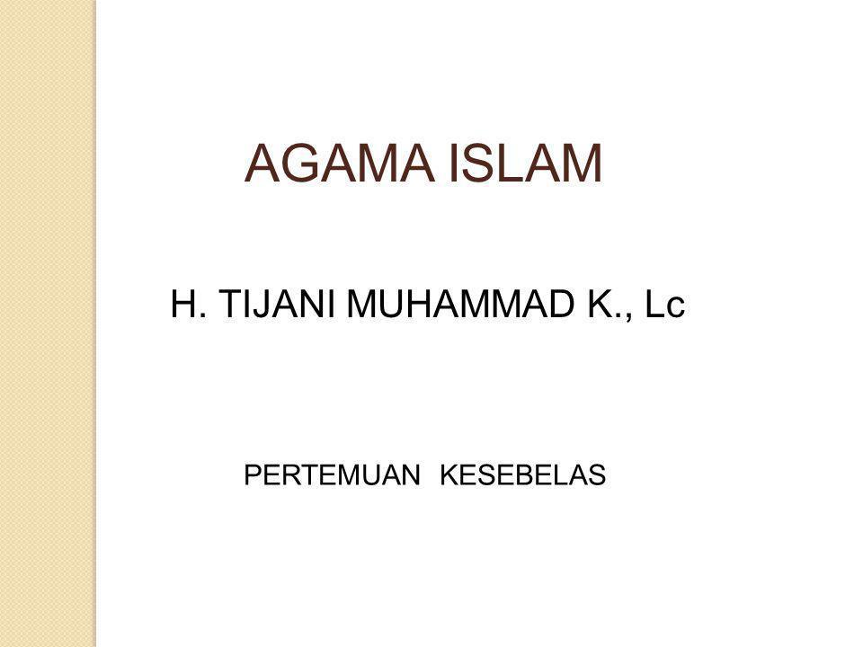 Iman Kepada Qadha & Qadar Keadilan Allah & Ikhtiar Manusia Kesalahan memahami taqdir akan berakibat fatal.