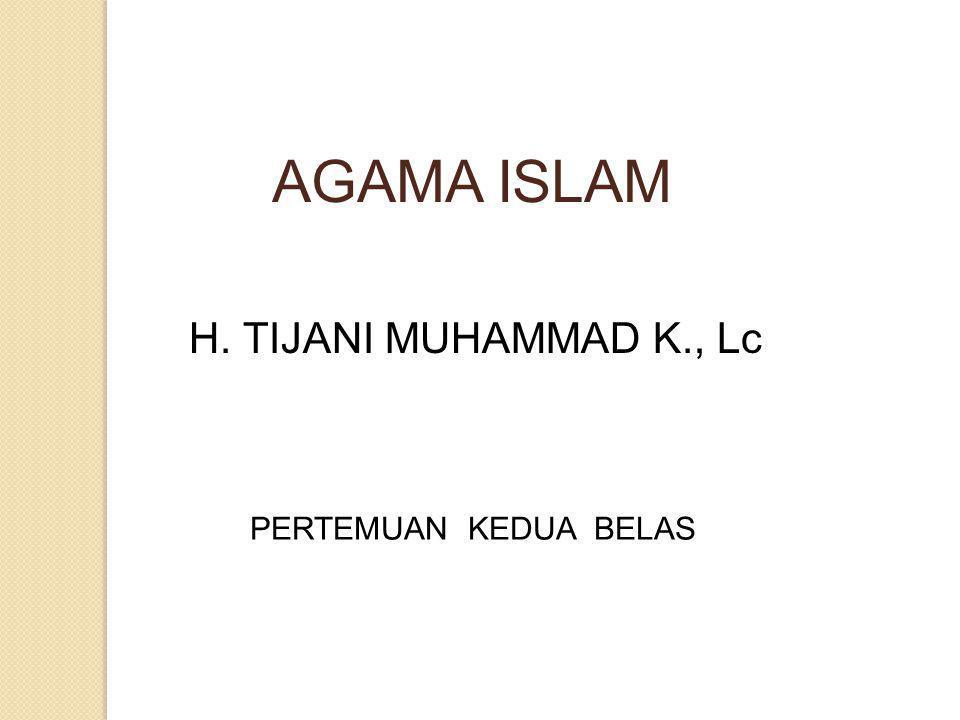 Taqlid yang wajib adalah: Mentaqlidi orang yang perkataannya hujjah, yaitu Rasulullah saw, Taqlid yang dibolehkan ialah: menuruti pendapat para mujtahid dalam soal-soal yang kita tidak ketahui hukum Allah dan Rasul-Nya terhadapnya.