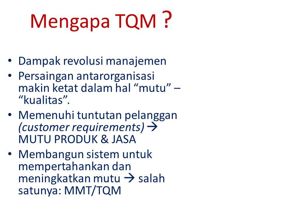 Mengapa TQM .