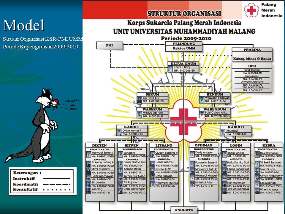 Model Strutur Organisasi KSR-PMI UMM Perode Kepengurusan 2009-2010