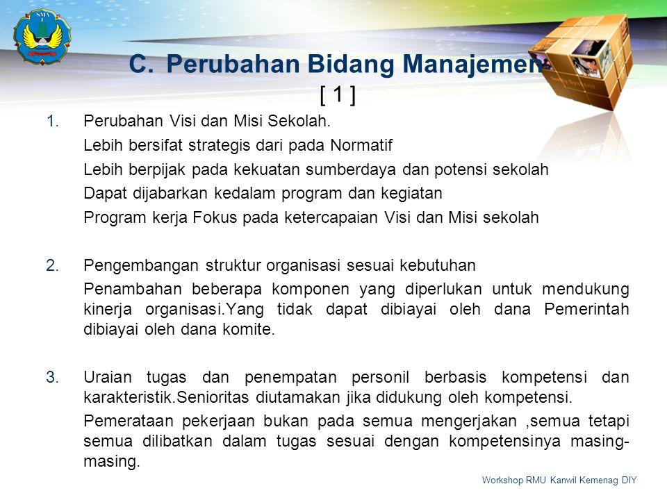 [ 1 ] 1.Perubahan Visi dan Misi Sekolah.