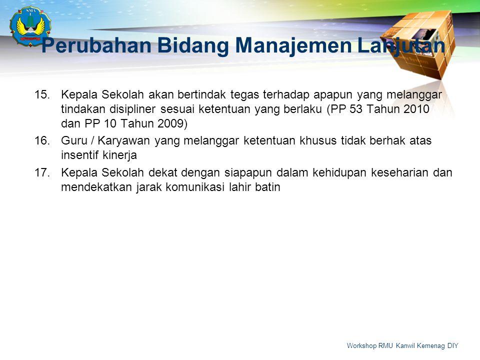 15.Kepala Sekolah akan bertindak tegas terhadap apapun yang melanggar tindakan disipliner sesuai ketentuan yang berlaku (PP 53 Tahun 2010 dan PP 10 Ta