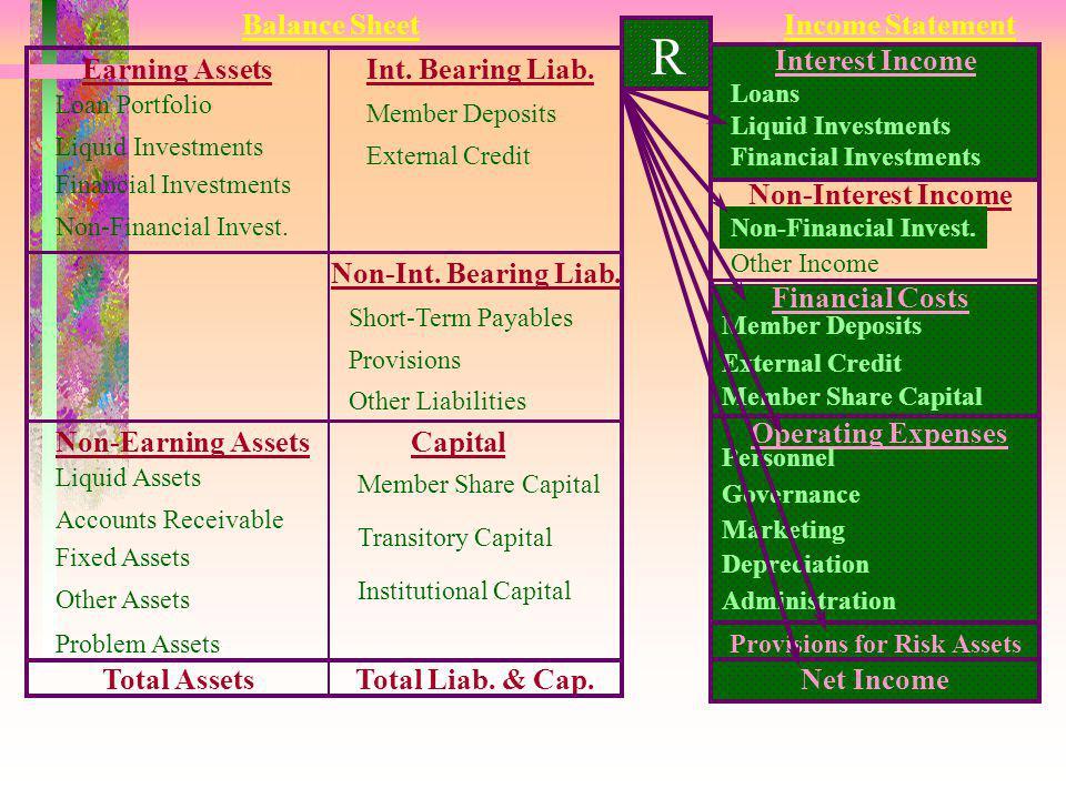 R 12 Tujuan : Mengukur kecukupan hasil usaha dan kemampuan membangun modal lembaga. Formula : Pendapatan Bersih (SHU) --------------------------------