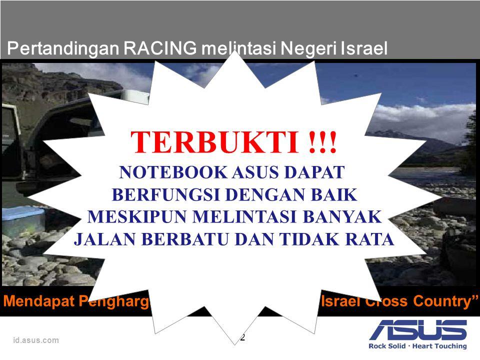 "id.asus.com 12 Mendapat Penghargaan dari Balap Racing ""Israel Cross Country"" Pertandingan RACING melintasi Negeri Israel TERBUKTI !!! NOTEBOOK ASUS DA"