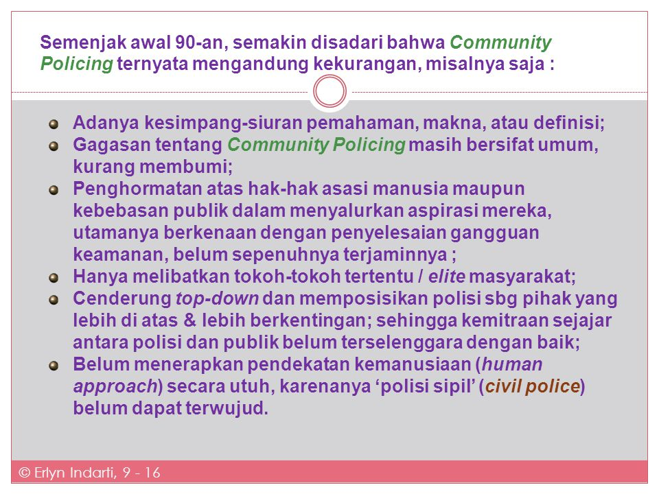 Community Policing a.l.
