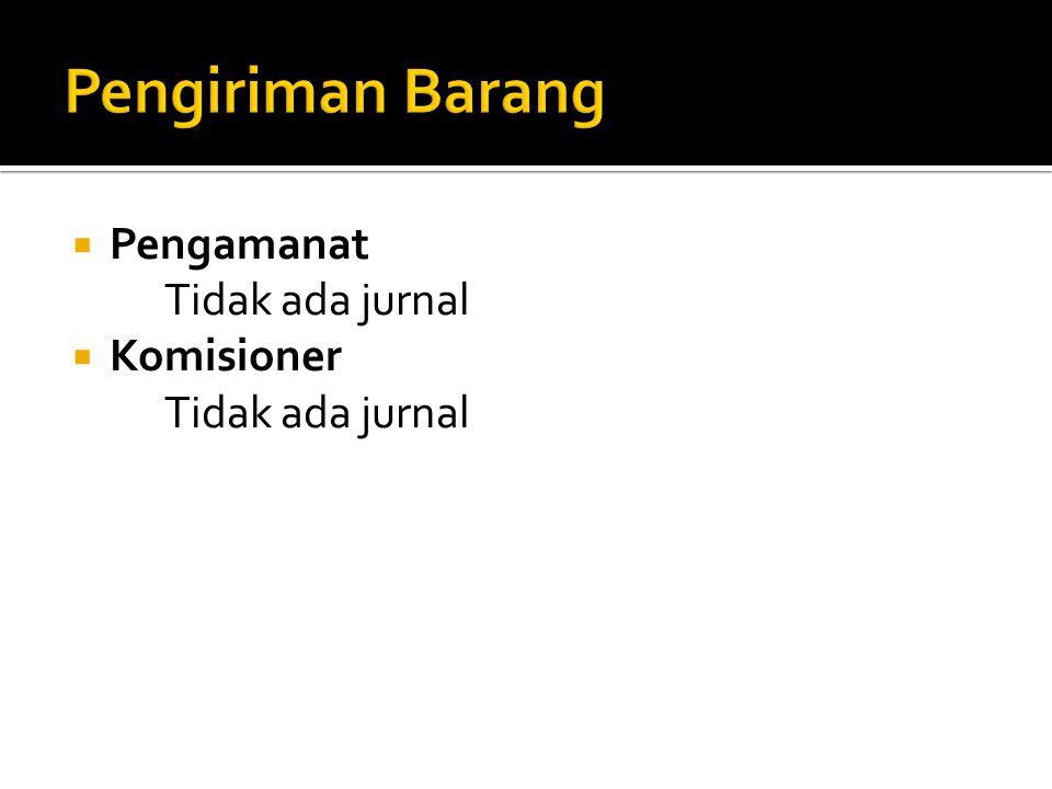  Pengamanat Tidak ada jurnal  Komisioner Tidak ada jurnal