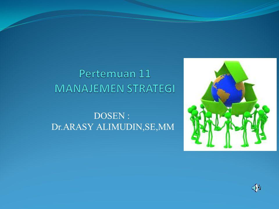 DOSEN : Dr.ARASY ALIMUDIN,SE,MM