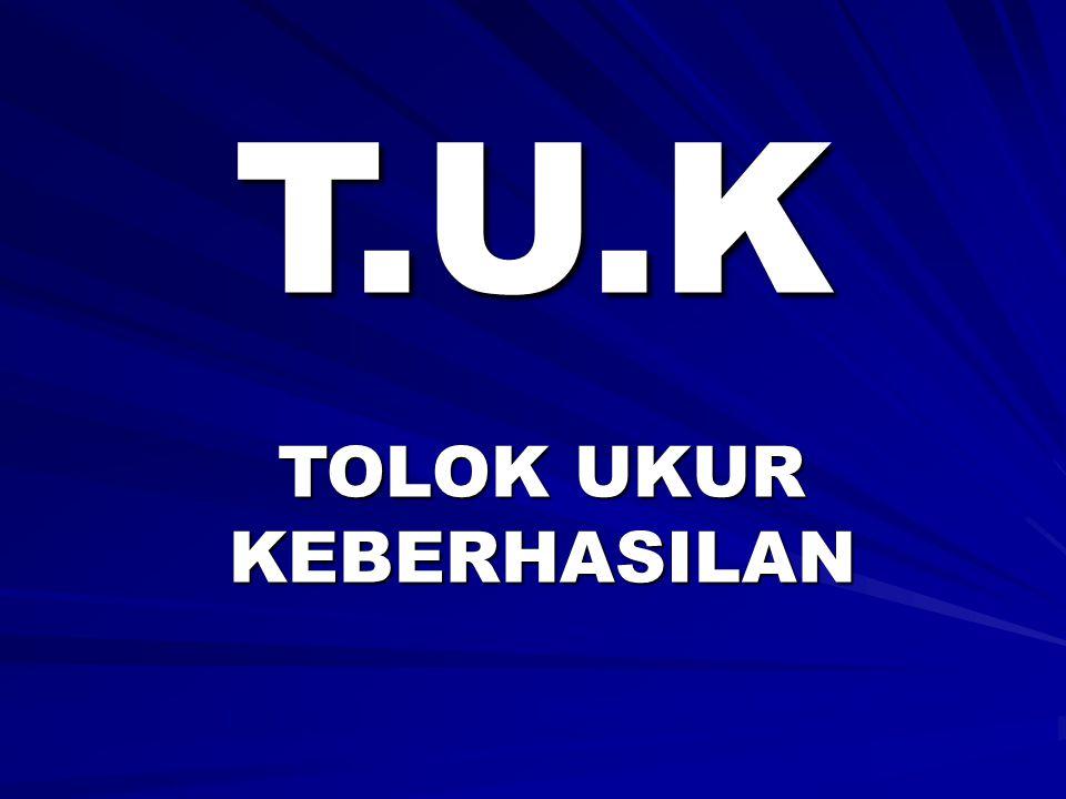 T.U.K TOLOK UKUR KEBERHASILAN