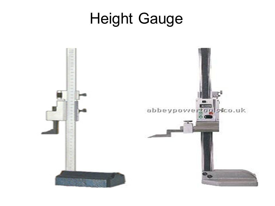 Mistar ingsut yang berfungsi sebagai pengukur ketinggian atau disebut juga dengan nama kaliber tinggi.