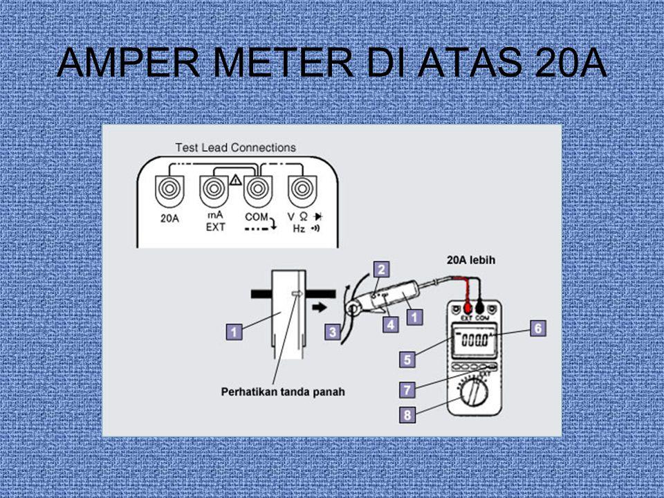 AMPER METER DI ATAS 20A