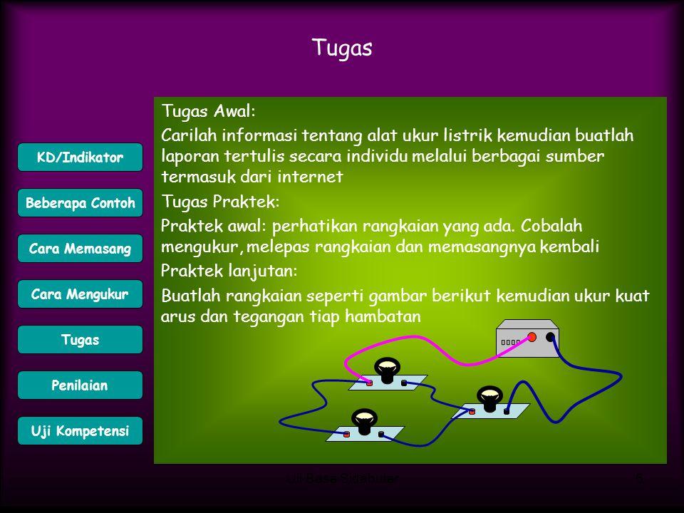 Uli Basa Sidabutar6 Tugas Tugas Awal: Carilah informasi tentang alat ukur listrik kemudian buatlah laporan tertulis secara individu melalui berbagai s