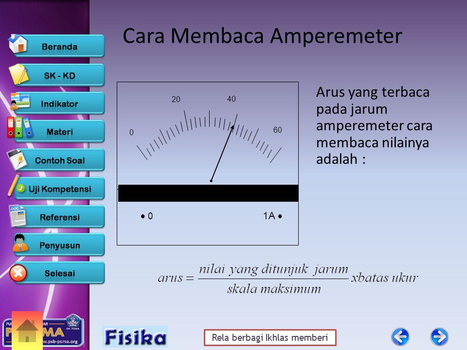Rela berbagi Ikhlas memberi Cara Membaca Amperemeter Arus yang terbaca pada jarum amperemeter cara membaca nilainya adalah : 20 0  0 1A 1A  40 60