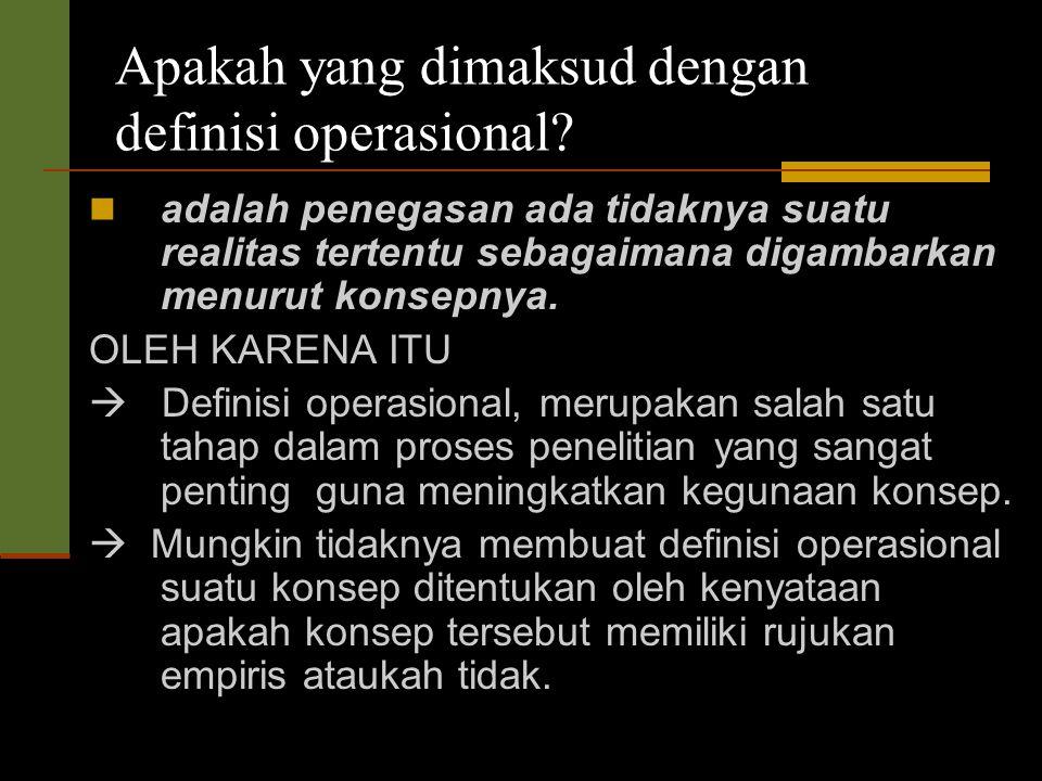 Apakah yang dimaksud dengan definisi operasional.