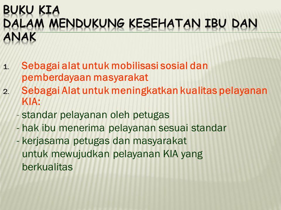 1.Sebagai alat untuk mobilisasi sosial dan pemberdayaan masyarakat 2.